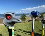 billet aluminium emu heads on display at emu park